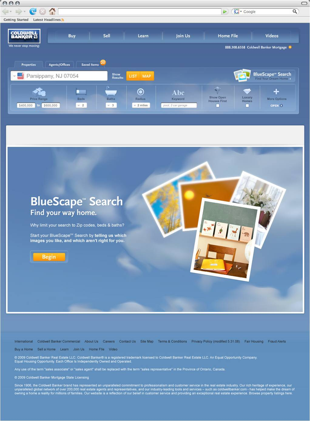 Bluescape Homepage