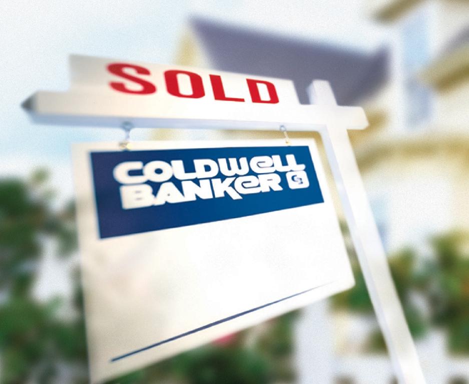 sold coldwell banker yard sign coldwell banker blue matter