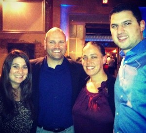 The Albright's with David Marine and Lindsay Listanski at the Gen Blue closing party.