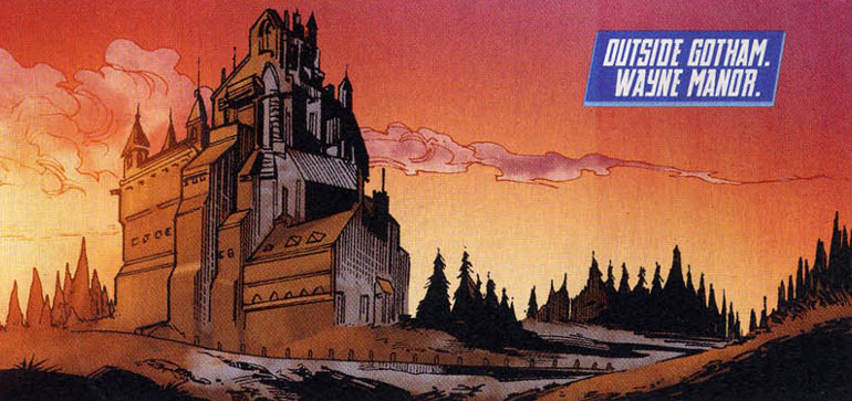 comic book wayne manor The Homes of the Dark Knight