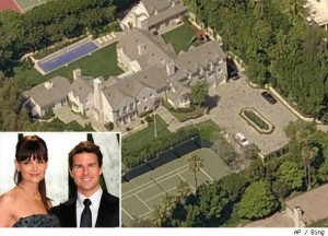 """Enjoy gawking at the multi-million dollar properties that Suri's mom and dad used to cohabitate"" via AOL Real Estate"