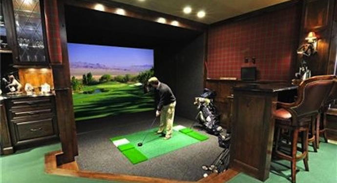 Golf in basement