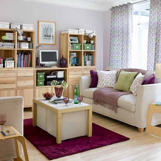 Pink Small Living Room Design small purple teenage girls bedroom southern living