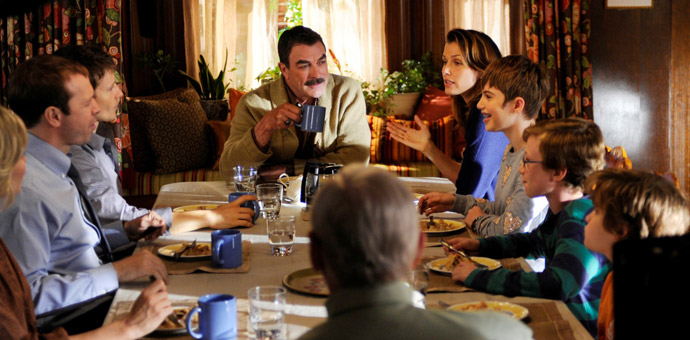 Reagan Family in the dining room on Blue Bloods