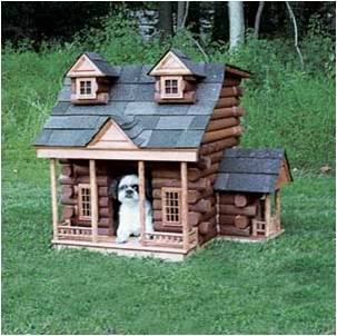 log cabin Is Being in the Dog House Really Such a Bad Thing