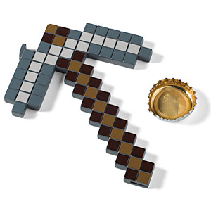 minecraft pickaxe bottle opener Holiday Home Gift Guide: The Gamer