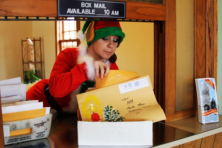 Courtesy of santa claus museum facebook post office mail The Most Festive Town in America   Santa Claus, Indiana