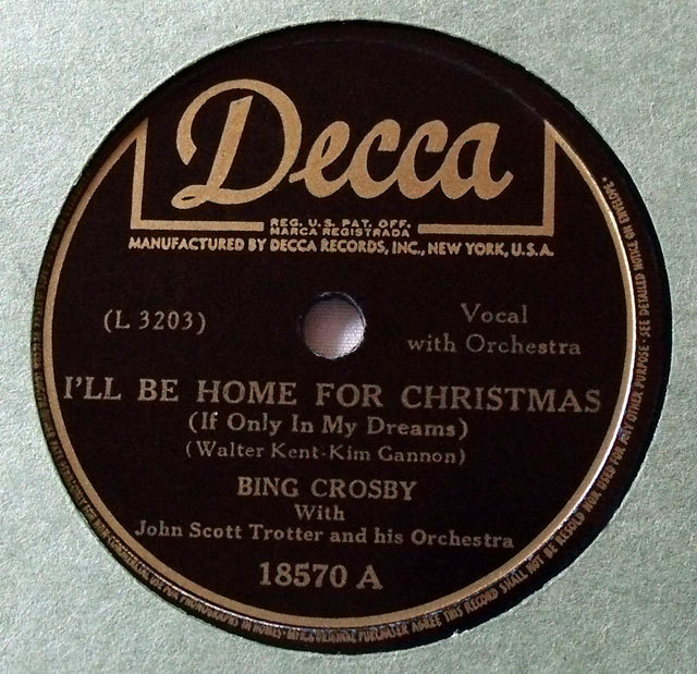 bing crosby crooning the holiday classic ill be home for christmas - Bing Crosby I Ll Be Home For Christmas