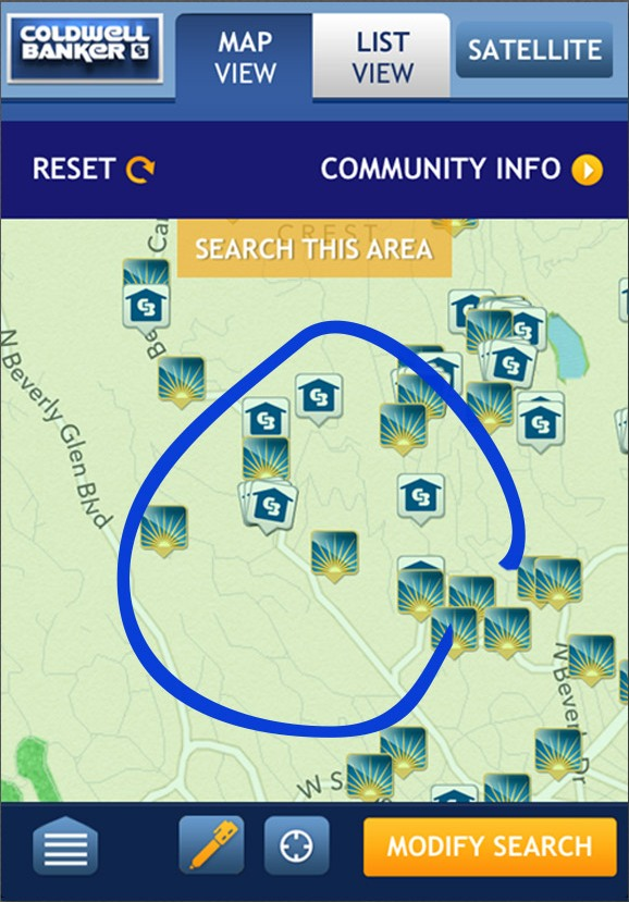 Map Sketch A New Coldwell Banker App for iPhone and Android