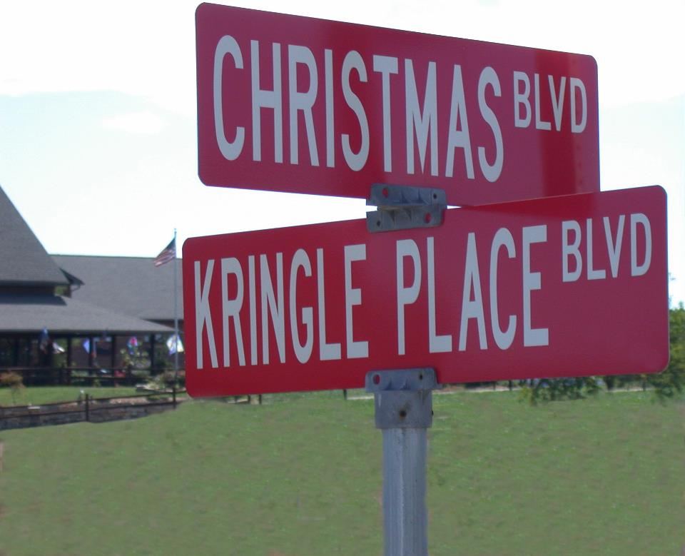 sign courtesy of route 12 The Most Festive Town in America   Santa Claus, Indiana