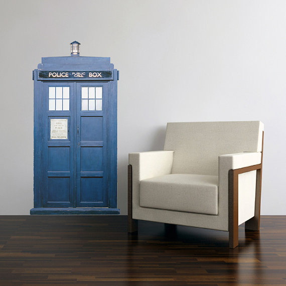 tardis walldecal Decorating Your Home with Dr. Who