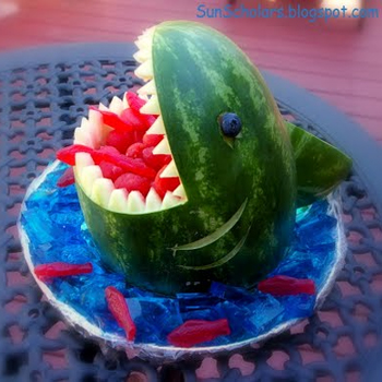 shark watermelon