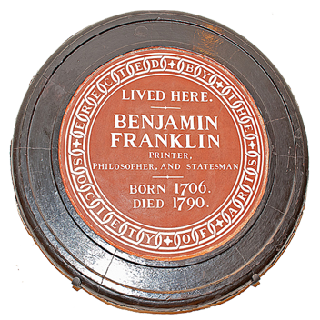 Badge Ben Franklins Home: The First American Embassy