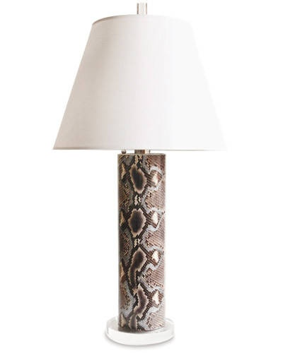 snakeskin lamp 12 Ways to Decorate with Animal Print