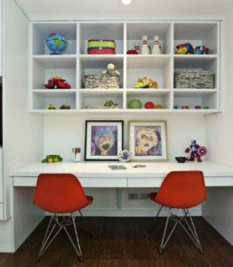 desk 262x300 How to Make a Kid Friendly Study Space