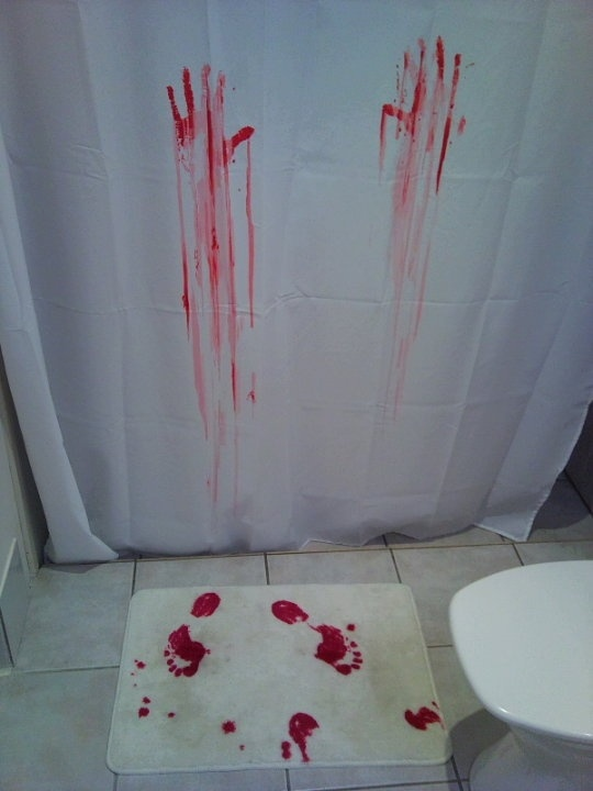 bloody hands shower curtain 9 Shower Curtains I Never Want to See in Your Home