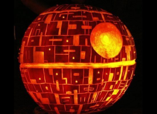 death star pumpkin 8 Ways to Be the Awesomest House This Halloween