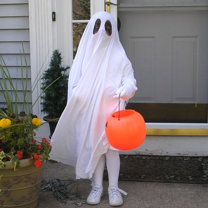 ghost costume 8 Ways to Be the Awesomest House This Halloween
