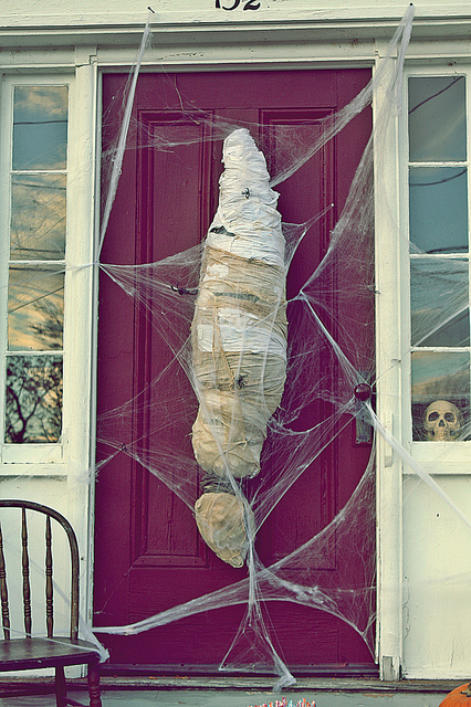 mummy front door 8 Ways to Be the Awesomest House This Halloween