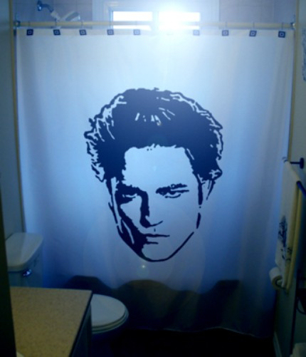 robert pattinson shower curtain 9 Shower Curtains I Never Want to See in Your Home