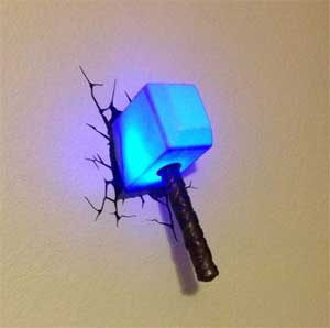 thor hammer light 7 Gifts for the Guy at Your Home