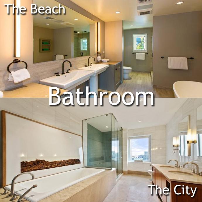 Bathroom Malibu vs. Manhattan: A Leonardo DiCaprio Home Showdown