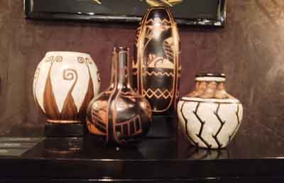 Charles Catteau Vases Inside the 60th Annual Winter Antiques Interior Design Show