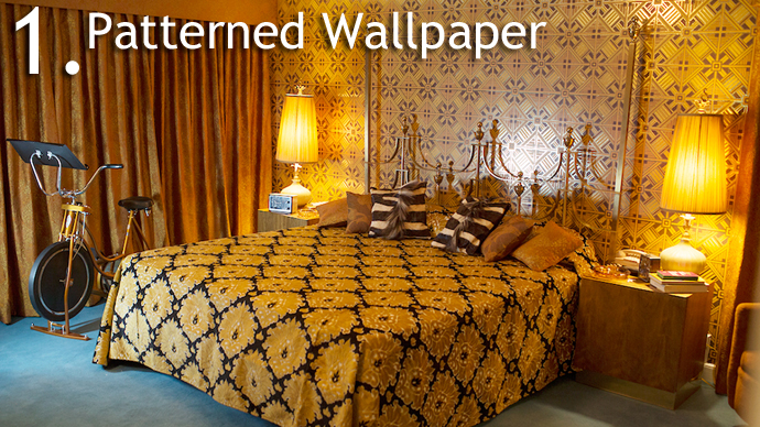 Patterned Wallpaper 5 Design Trends from American Hustle