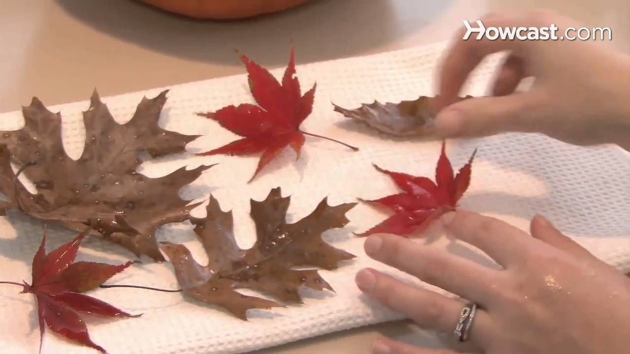 How to Turn Autumn Leaves into Home Decor