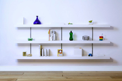 Urban Dwellers: Draw the Eye up with Floating Shelves