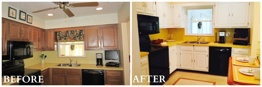 Pleasantville Kitchen Before After Coldwell Banker Blue