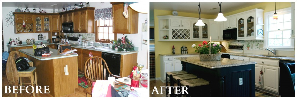 Kitchen Before And After add value and style with low cost kitchen and bath updates