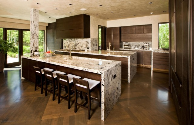 Waterfall Granite Concrete Countertops 10 Ways To Incorporate Wood And Stone Into Modern Design Coldwell