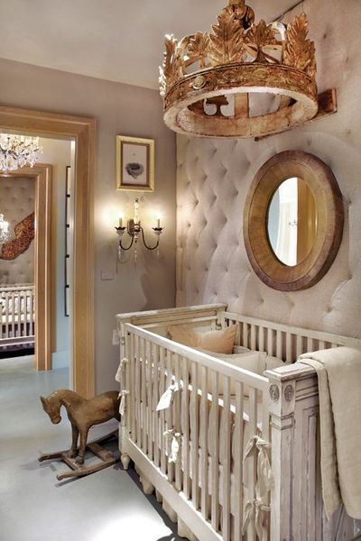 The Frames On Wall Are An Original Way To Decorate This Nursery Is Very Vintage Chic