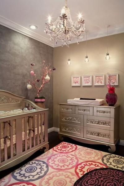 Cute baby nursery ideas for Baby girls bedroom designs