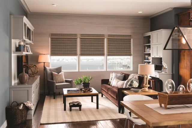 Above  Standard Bali Roman Natural Shades with Cordless Lift  Highpoint   Brook 35113 with 2  Edge Banding  Taupe 1007  Room Darkening Liner  and 6   Standard  An Expert Guide to Choosing the Right Window Treatments for your  . Living Room Shades. Home Design Ideas
