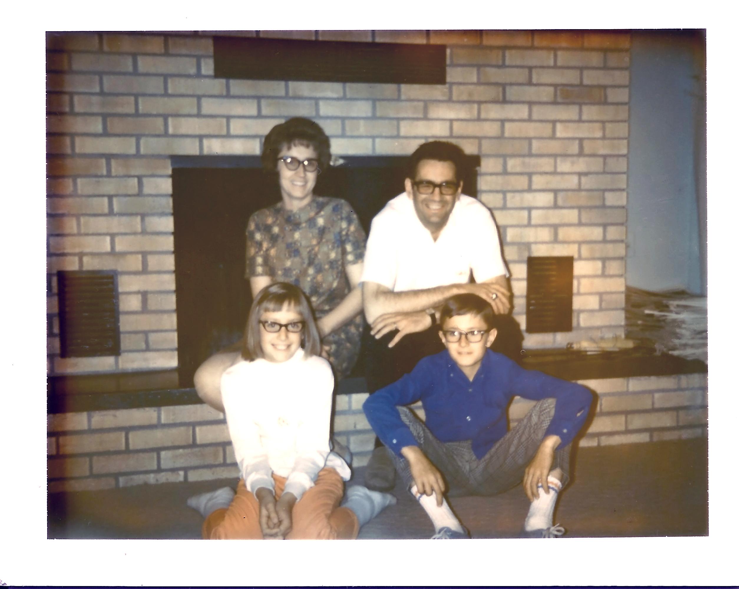 family at fireplace circa 1968 (2)