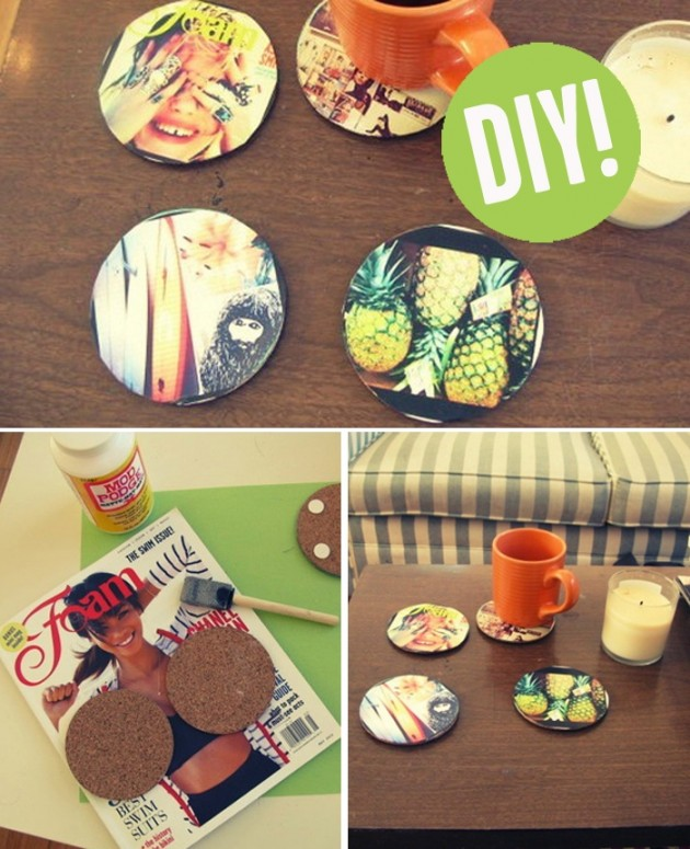 15 super sweet homemade holiday gift ideas advance for Homemade coaster ideas