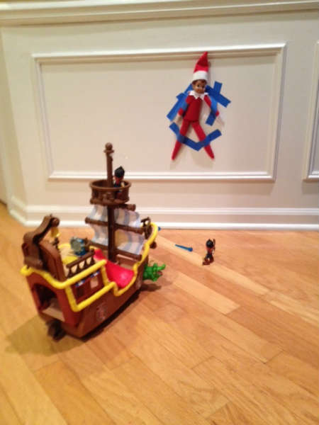 Elf on the Shelf attacked by pirates