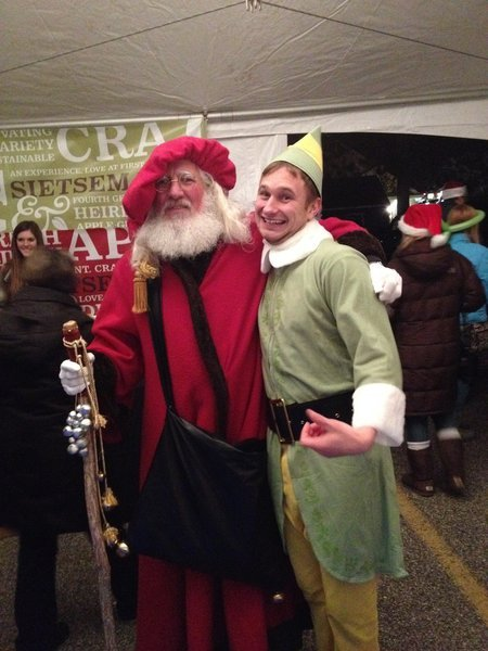 Santa and elf at