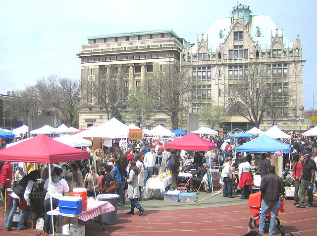 view of Brooklyn Flea
