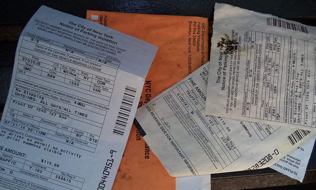 parking tickets nyc