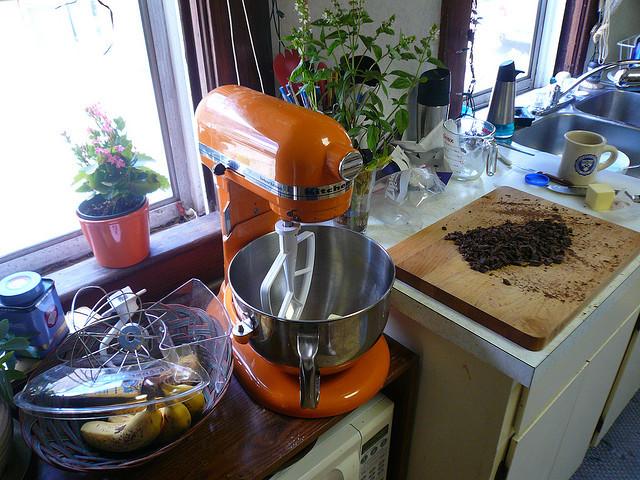 orange kitchenaid mixer