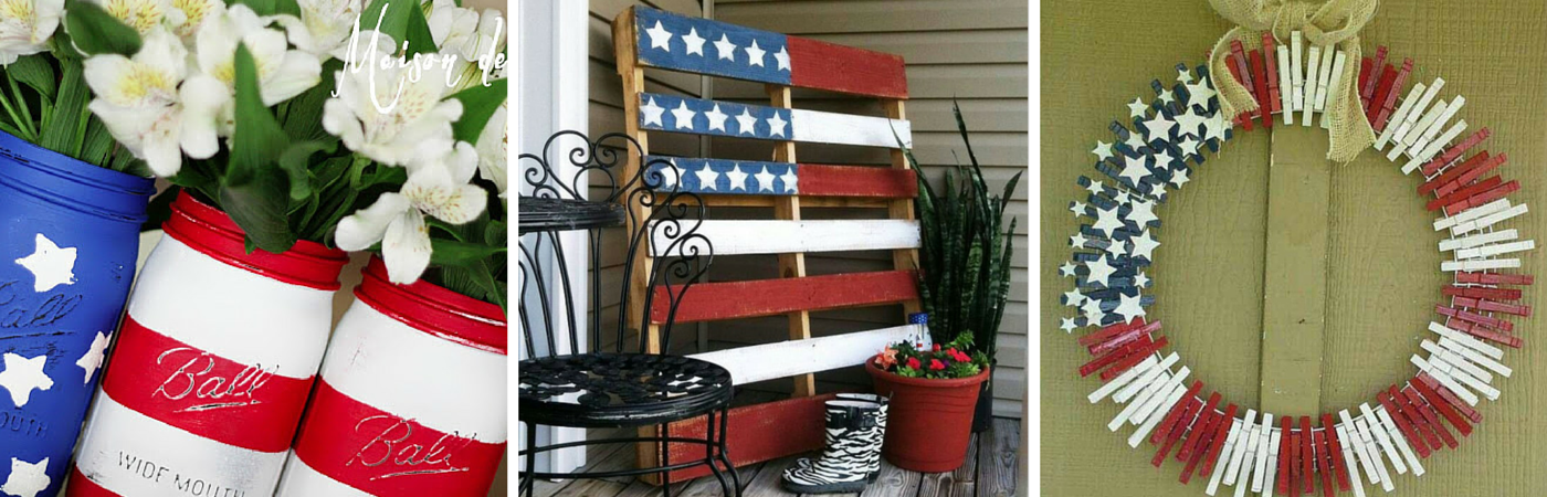 A pop of patriotism american flag home decor ideas for American flag decoration