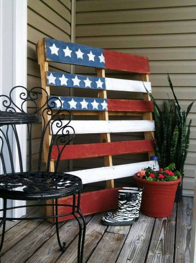 A pop of patriotism american flag home decor ideas for American decoration ideas