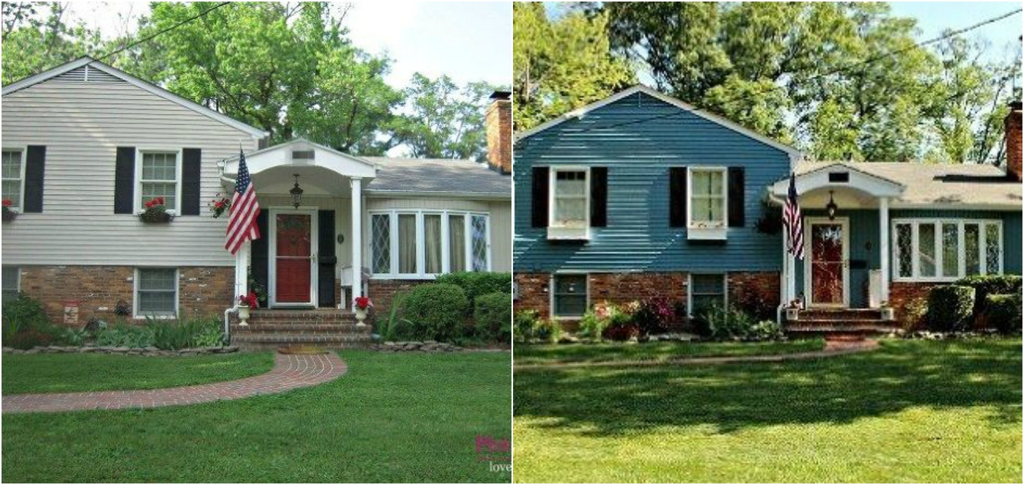 9 incredible home exterior makeovers coldwell banker for Home exterior makeover ideas