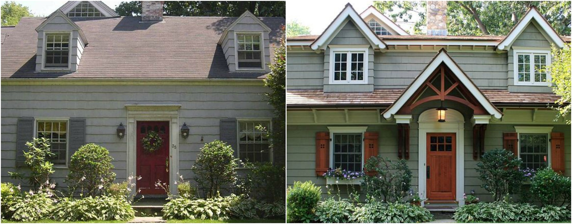 9 incredible home exterior makeovers coldwell banker for Exterior makeover ideas