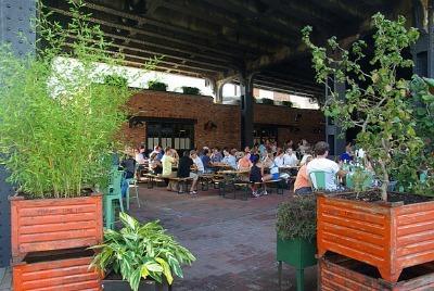 NYC Outdoor Restaurants: The Biergarten at The Standard
