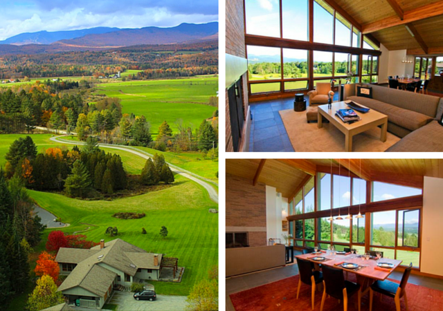 This Morrisville, VT property comes with spectacular views of nearby ski country and miles of farm land. The large windows offer plenty of opportunity to take in the spectacular fall views.