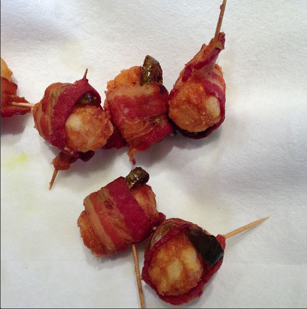 Jalepeno wrapped bacon